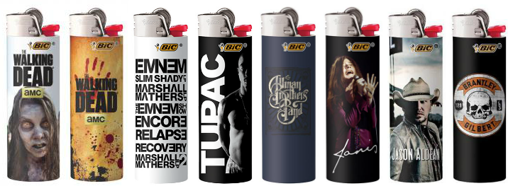 BIC Lighters Licensed Music Line